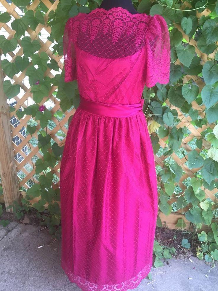Vtg beetlejuice lydia deetz red wedding dress halloween for Lydia deetz wedding dress
