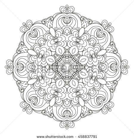 MANDALA hand drawn vector. Illustration is suitable for creating your own patterns, backgrounds, cards, invitations, decorating websites and for the realization of other design ideas.  - stock vector