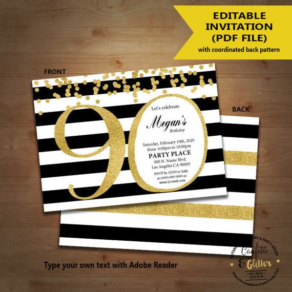 22 best 90th bday party images on Pinterest Birthdays - fresh invitation for birthday party by email