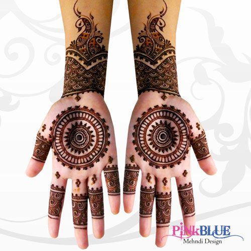 PINKBLUE's Henna Mehandi Design - Add Glamour Touch to Your Beautiful Hand You may check our more design-> #Mehandi #Art #Love #Hand #Beautiful #Henna #Trend