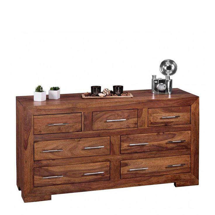 Unique  holz massivholzkommode gro e massiv k chenkommode schrank echtholz sideboard massivholz wohnzimmer sideboards kommode esszimmer wohnz