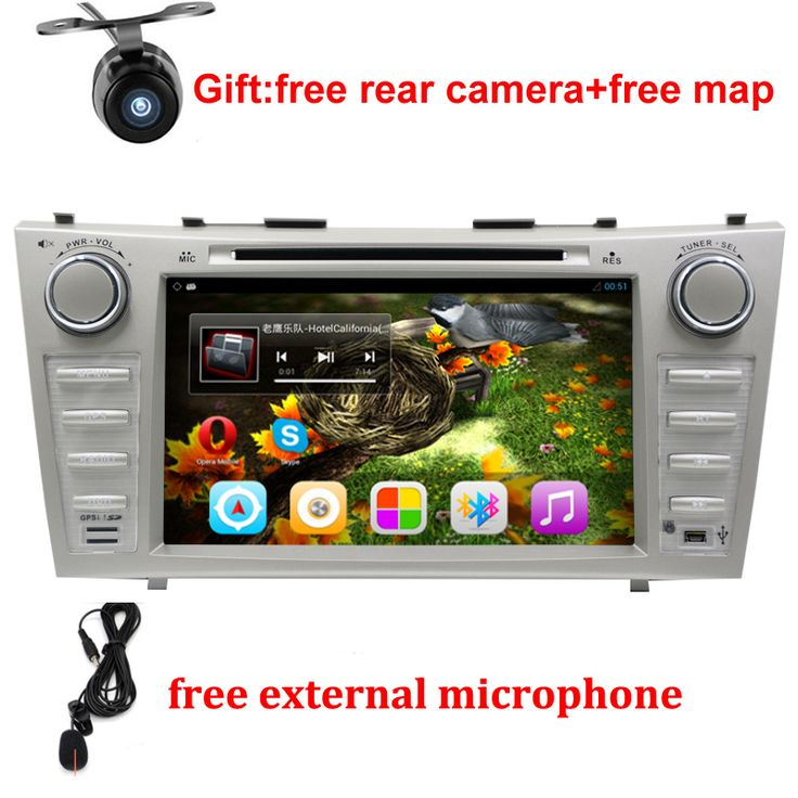 "1024*600 2 Din Quad Core 8"" Android 6.0 Car DVD GPS Navigation For Toyota Camry 2007 2008 2009 2010 Head Unit Car Stereo radio"