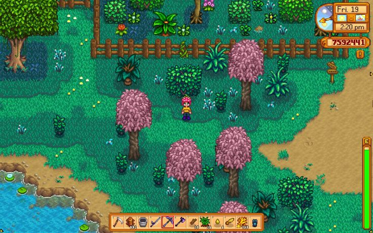 Updated for patch 1.1. Recoloured map (grass and dirt) with new trees and grasses at Stardew Valley Nexus - Mods and community