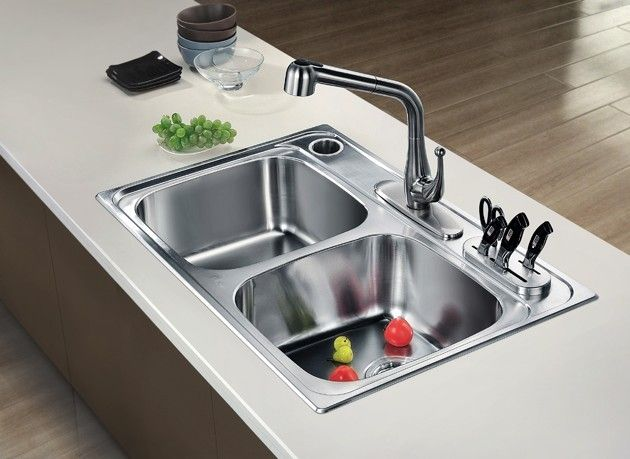 Dawn Topmount Equal Double Bowl Sink Ast3322 210 00