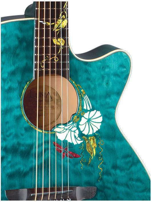 Luna Moonflower custom acoustic guitar