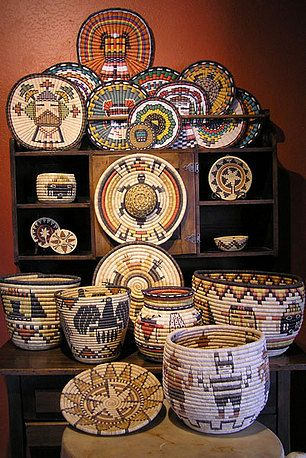 Hopi Indian Baskets of the Southwest at  Old Territorial Indian Arts
