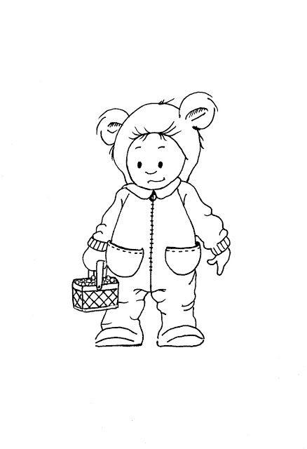 My Freebies Cute bear costume Card digi