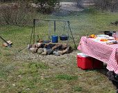 Frontier Folding Campfire Cooking 14X16 Grill