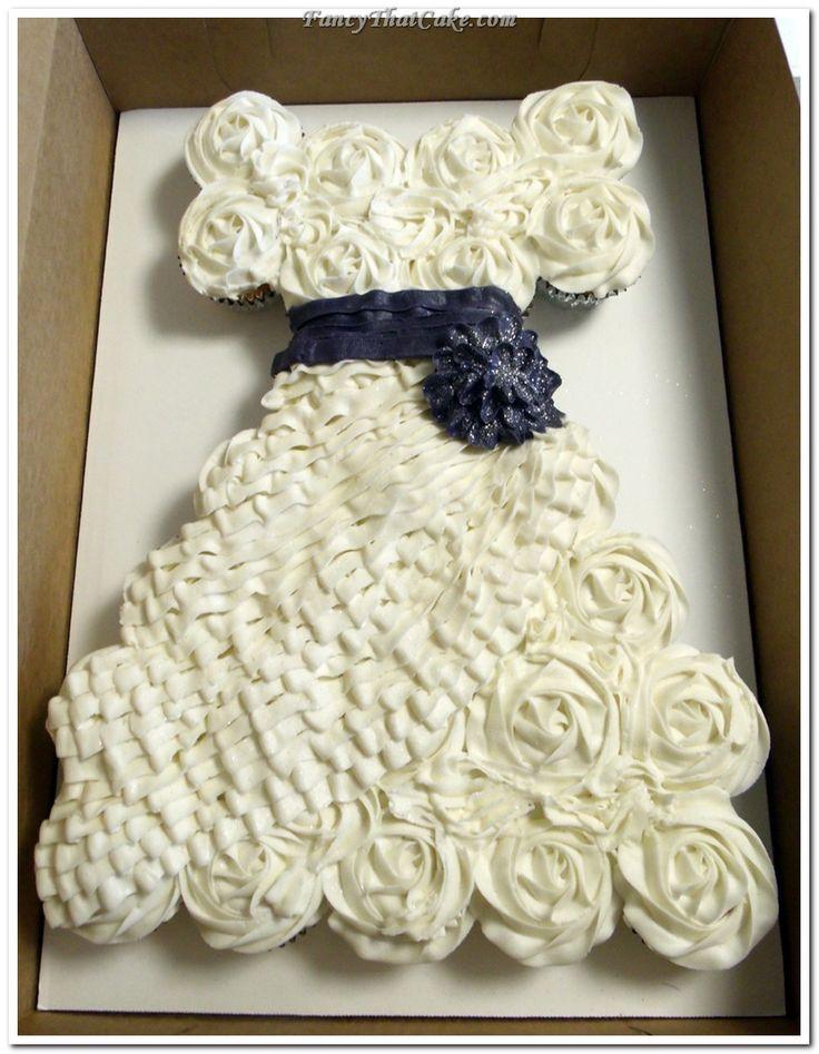 Wedding Dress Pull Apart Cake Best Ideas About Princess Cupcake On