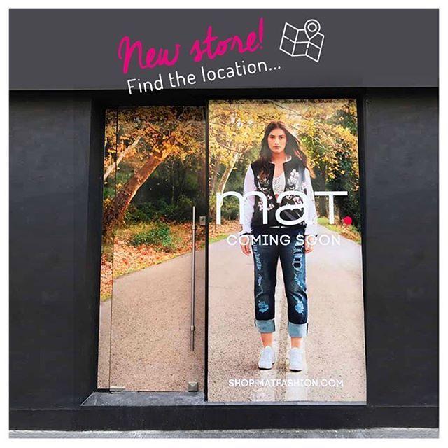 🔜 Νέο #matfashion κατάστημα σύντομα κοντά σας! 📍 Μπορείτε να μαντέψετε την τοποθεσία του...❓Find the location of our new maт.store! #comingsoon #newstore #lovematfashion  Угадайте локацию нашего нового maт. магазина❣
