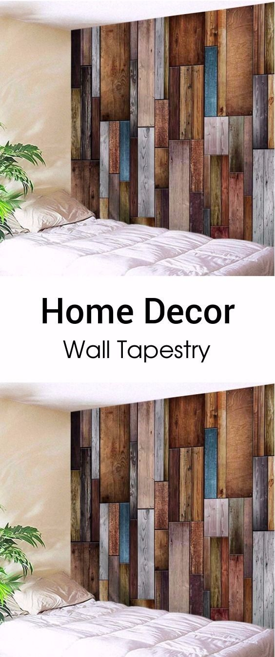 Vintage Wood Texture Decorative Wall Tapestry 16