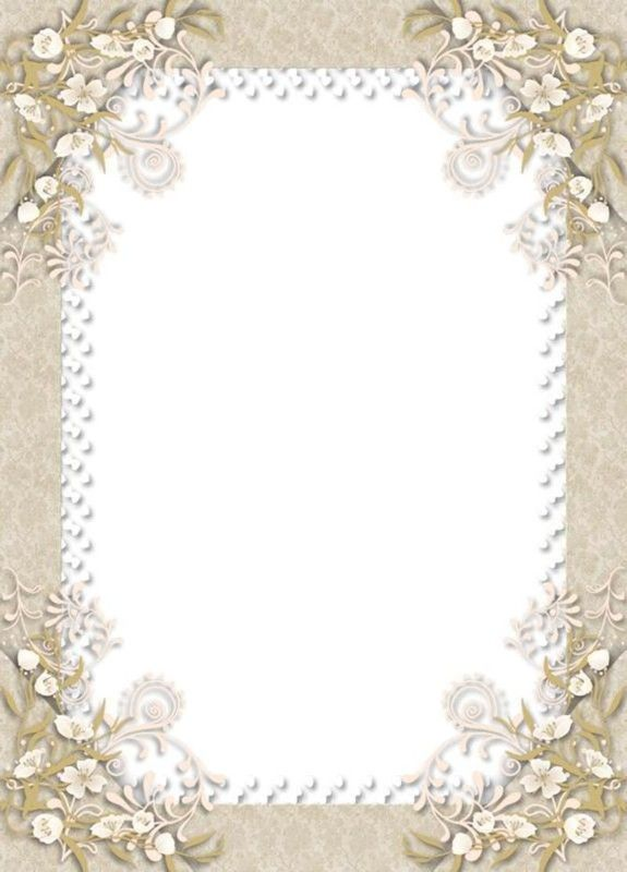 Frame with floral corner accents