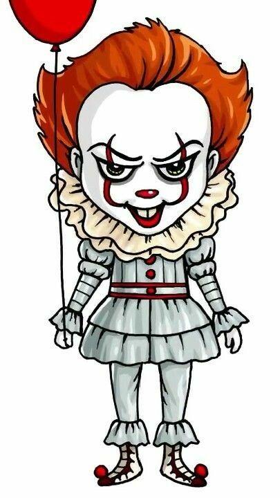 Clown Pennywise Cute Kawaii Drawings Girl