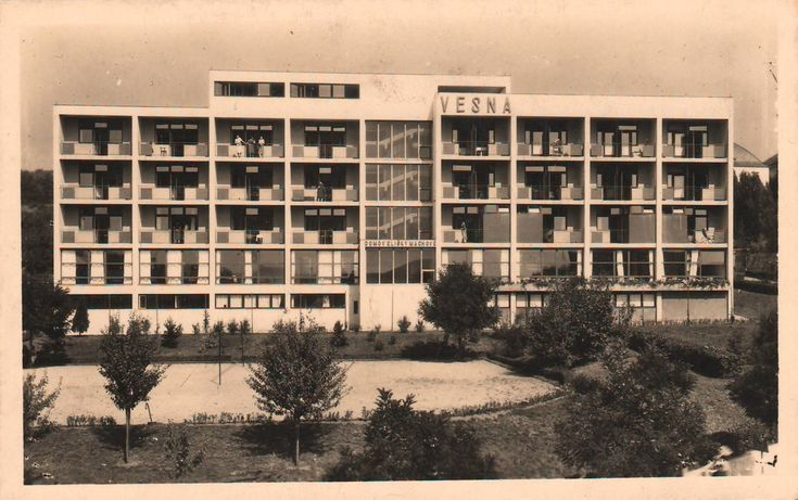 Functionalist architecture from Brno, Czech Republic