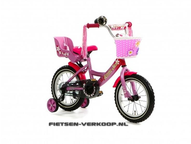 Meisjesfiets Little Miss Roze 14 Inch | bestel gemakkelijk online op Fietsen-verkoop.nl