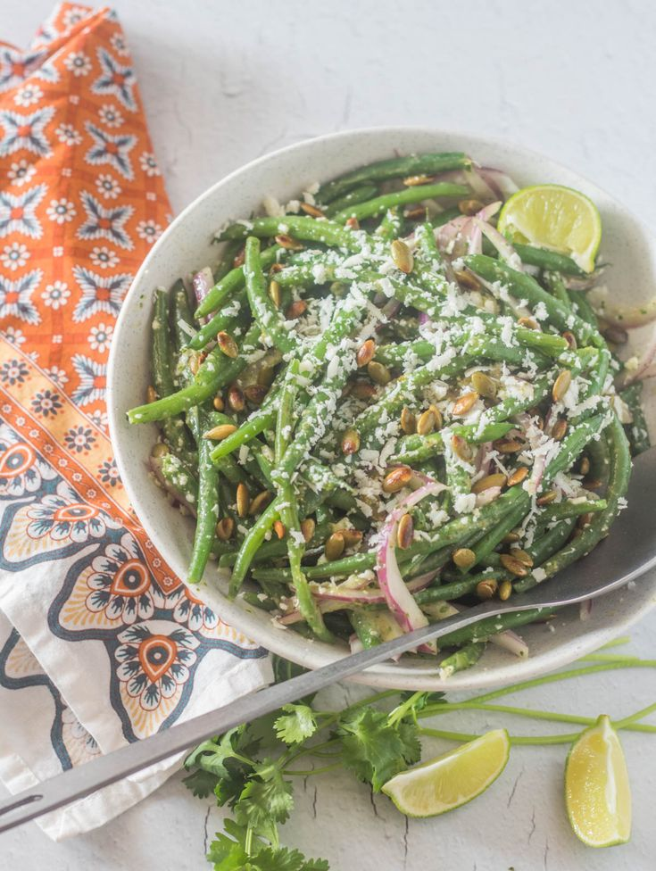 Mexican green bean salad with cilantrolime dressing