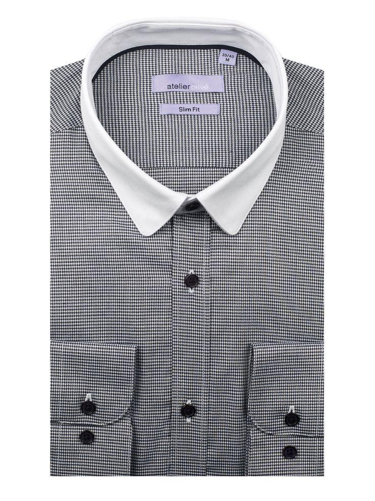 Chemise cintrée HERIC - 90€ /  http://www.atelierprive.com/fr/nouveautes-mode-homme/3957-chemise-cintree-mini-pied-de-poule-heric.html