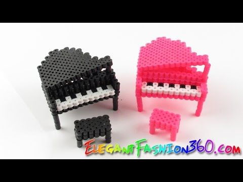 DIY Perler Beads/Hama Beads 3D Piano - How to Tutorial/Perfect for Doll House - YouTube