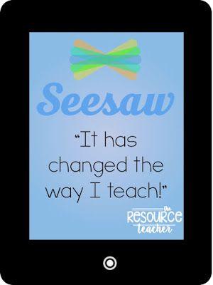 The Resource Teacher: Digital Student Portfolios Using SeeSaw