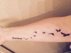 ... Tattoo on Pinterest | Cancer survivor tattoo Domestic violence tattoo