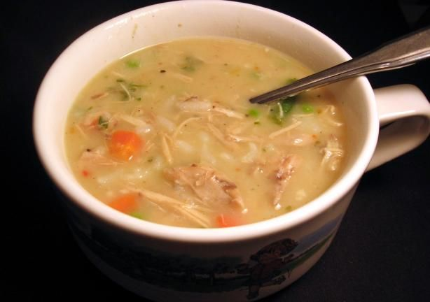 Demos' Baked Chicken Soup from Food.com: I made this the other night minus the lemon juice (didn't have any) and it was so good!