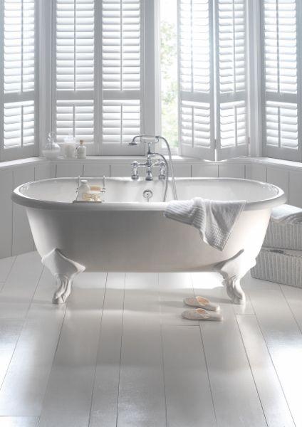Vrijstaande (Windsor) badkuip op pootjes