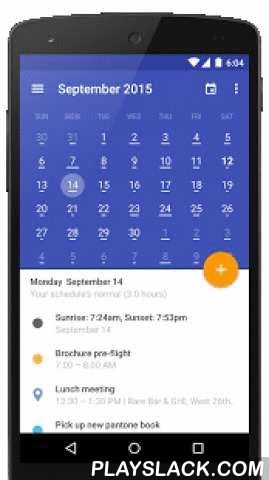 Today Calendar 2016  Android App - playslack.com ,  Despite being derived from the same stock android calendar as the majority of alternative calendars on the Play Store, Today Calendar sets itself apart from the competition by being the only calendar app to combine high functionality with stunning aesthetics.The stock calendar's UI was completely overhauled to create Today Calendar. The old cluttered grey-on-grey layout was replaced with a clean themeable design to create a truly beautiful…