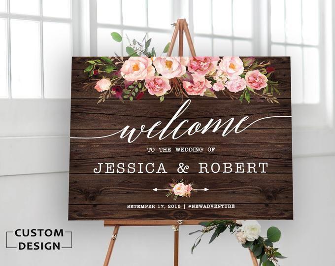 Wedding Welcome Sign Wedding Welcome Sign Printable Rustic Etsy Wedding Welcome Signs Wedding Signs Wedding Welcome Board