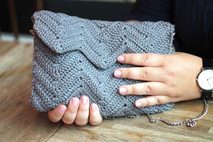 Hæklet taske - zigzag hækling Crochet bag - zigzag crochet #cicitivezigzagtaske www.cicitive.dk