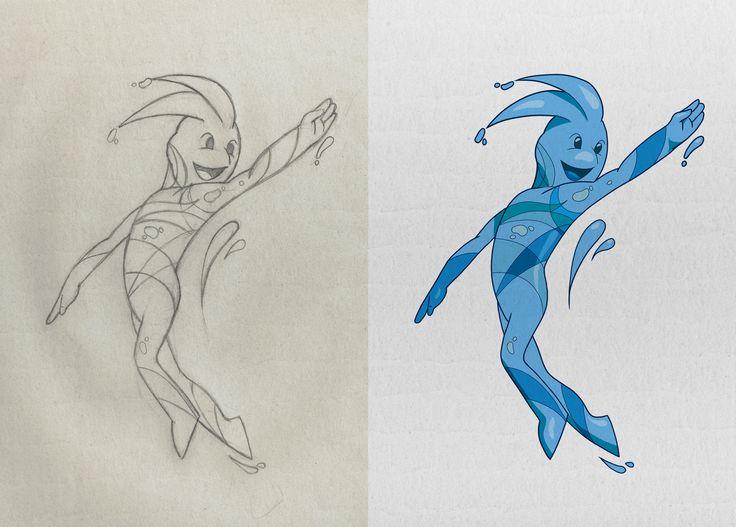 Iniciamos semana con este proceso de diseño para personaje, del boceto a lápiz a la colorizacion digital #dibujo #digitalart #characterdesign #color #drawing