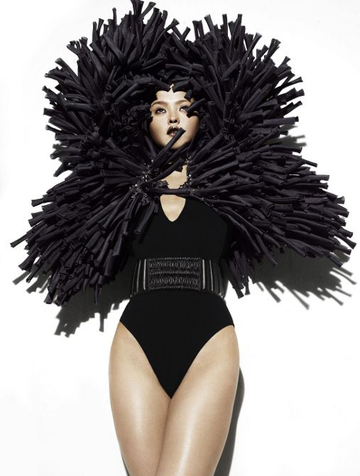 """""""I just don't want anyone to love me for my brains."""" .............#haute couture, Black and White Always In"""