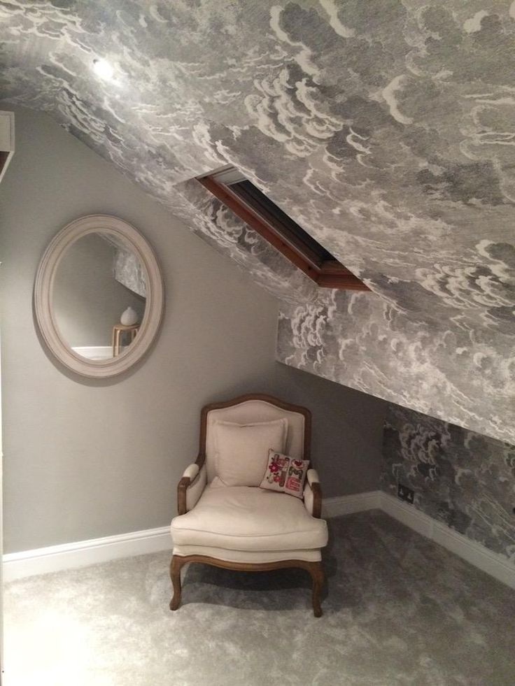 Cole & Son Fornasetti Nuvolette Clouds wallpaper ceiling