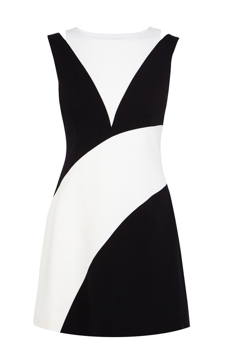 Karen Millen 1960s colourblock dress