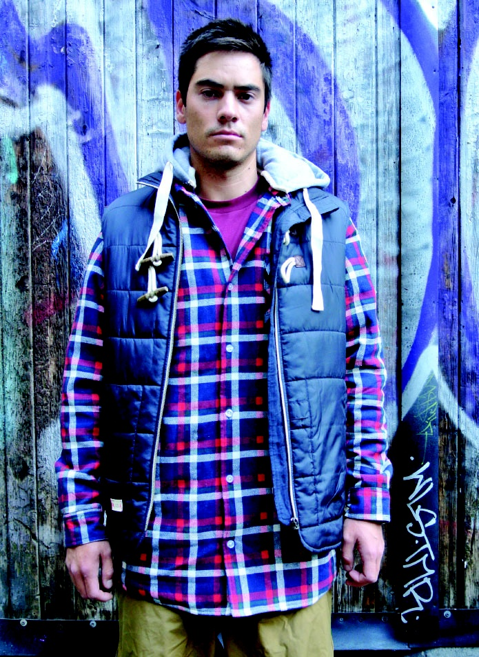 Image of OOTZ 075 - OOTZ Sherpa Lined Tall Flannel - Navy/ Red/ Green Check