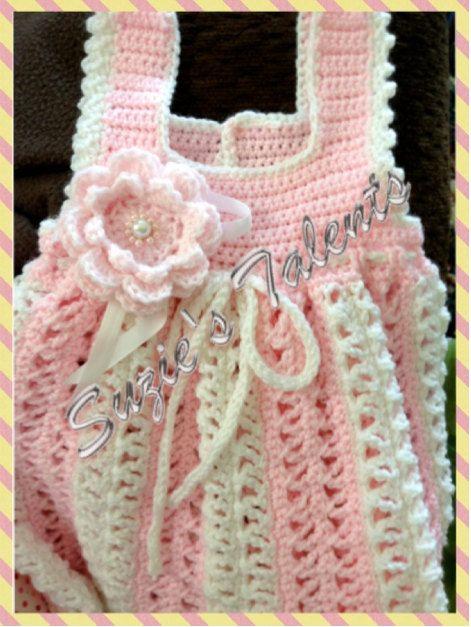 PATTERN PT056 - Crochet Baby Spring Dress, Baby Summer Dress Pattern, Baby Pineapple Dress Pattern, Crochet Baby Dress Pattern