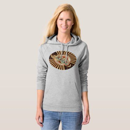 Retro Designer Graphics Hoodie  $47.15  by robertoregan  - cyo diy customize personalize unique