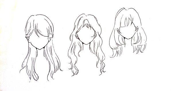 Cara menggambar rambut manga cewek | MAYAGAMI