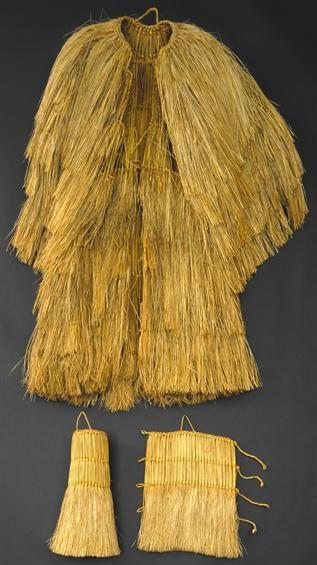 Traje masculino de trabalho - Coroça e polainitos, (c.1930)  Beiras - Trás-os-Montes / Beiras - Trás-os-Montes