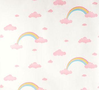 Retro Tapet Regnbuer og Skyer