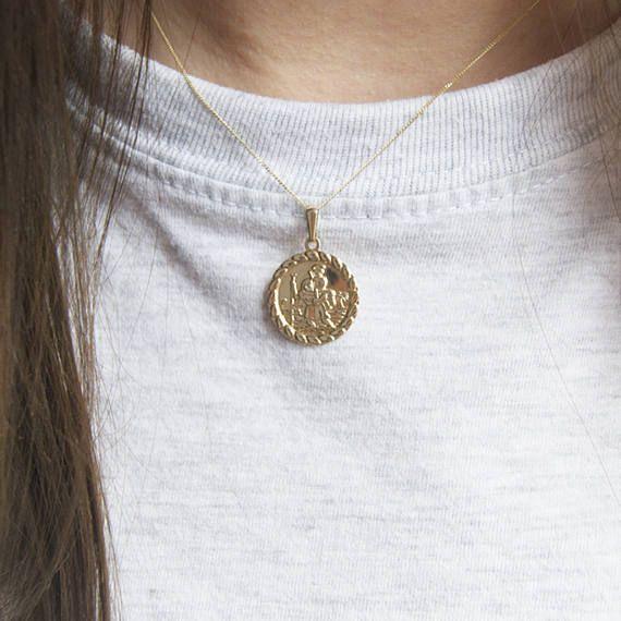9ct gold St Christopher St Christopher necklace saint