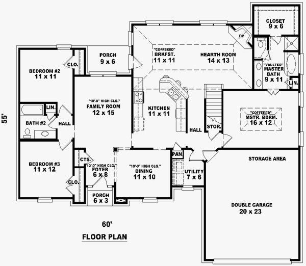 House Plans 1700 To 1900 Square Feet Bedroom Floor Plans One Storey House Floor Plans