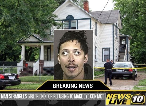 Man Strangles Girlfriend for Refusing to Make Eye Contact  -- best funny pictures walmart humor fail jokes