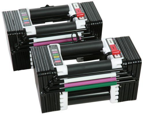 PowerBlock Elite Set Dumbell, Black/White, 50-Pound