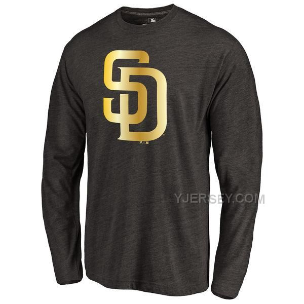 http://www.yjersey.com/san-diego-padres-gold-collection-long-sleeve-tri-blend-tshirt-black.html SAN DIEGO PADRES GOLD COLLECTION LONG SLEEVE TRI BLEND T-SHIRT BLACK Only 30.00€ , Free Shipping!