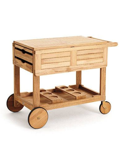 THE TOP 10 BAR CARTS: Rochester Serving Cart by Gloster.