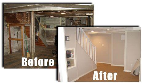 refinished small basement | finished basement ideas | basement