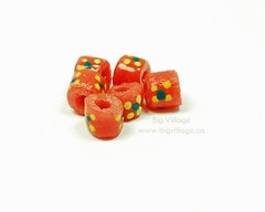 Hand Painted, Fair Trade, Recycled Glass Beads from the Krobo Tribe in Ghana, Africa $4.00