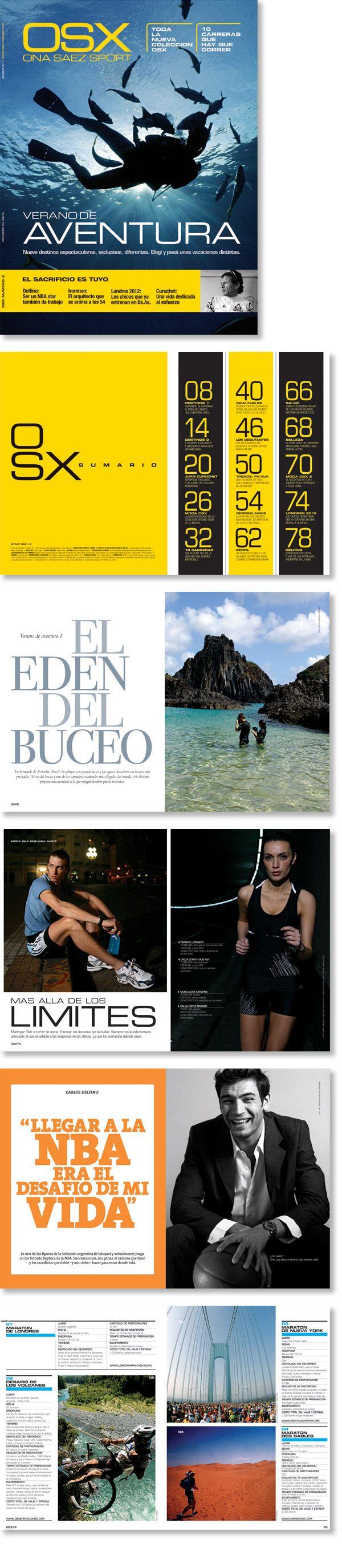 Dirección de arte y diseño. Revista para la marca deportiva de Ona Saez.  Trabajo realizado para Estudi Cases.