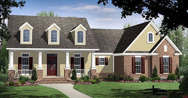 Country Craftsman European Traditional House Plan 59188