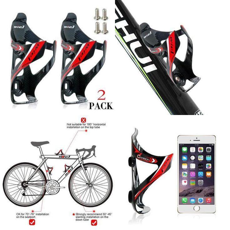 Wiel Full Carbon Fiber Bicycle Bike Light Drink Water Bottle Cage Holder